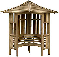 Blooma Solway Softwood Corner arbour - Assembly service included