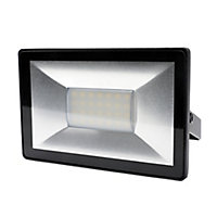 Blooma Weyburn Black Mains-powered Cool white Floodlight 1600lm