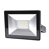 Blooma Weyburn Black Mains-powered Cool white Floodlight 800lm