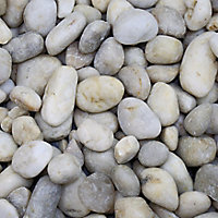 Blooma White Stone Pebbles, 5kg Bag