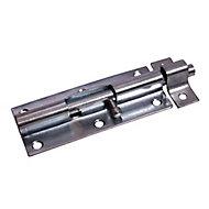 Blooma Zinc-plated Door bolt, (L)152mm (W)51mm