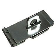 Blooma Zinc-plated Steel Hasp & staple, (L)76mm (W)39mm