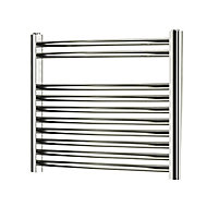 Blyss 176W Chrome Towel warmer (H)500mm (W)550mm