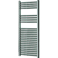 Blyss 333W Chrome Towel warmer (H)1200mm (W)450mm