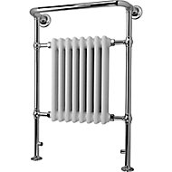 Blyss Victoria 498W White Towel warmer (H)952mm (W)659mm