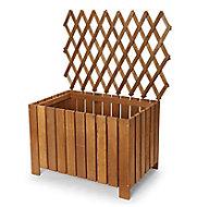 Bopha Pressure treated wood brown Wooden Rectangular Trough 40cm