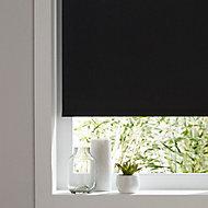 Boreas Corded Black Plain Blackout Roller Blind (W)120cm (L)180cm