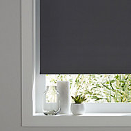 Boreas Corded Grey Plain Blackout Roller Blind (W)160cm (L)180cm