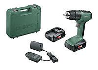 Bosch 18V 1.5Ah Li-ion Cordless Combi drill 2 batteries 06039C8171
