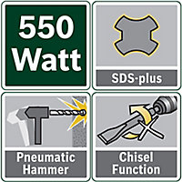 Bosch 550W 240V Corded SDS+ drill PBH2100RE