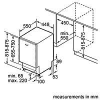 Bosch Integrated White Slimline Dishwasher