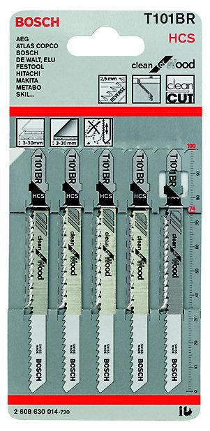 Bosch Jigsaw Blade T101br 74mm Pack, Jigsaw Blade For Laminate Flooring