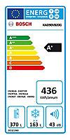 Bosch KAD90VB20G Black Freestanding Fridge freezer