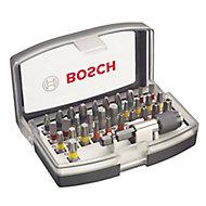 Bosch Mixed Screwdriver bits, Set of 32
