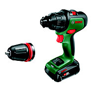 Bosch Power for All 18V 2.5Ah Li-ion Cordless Combi drill 1 battery Advanced Impact 18