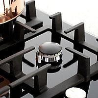 Bosch PPP616B91E 4 Burner Black Cast iron Gas Hob, (W)590mm