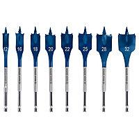 Bosch Wood Drill Bits 8 piece Hex Flat Drill bit set