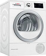 Bosch WTWH7660GB White Freestanding Heat pump Tumble dryer, 9kg