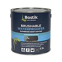 Bostik Black Roofing waterproofer, 2.5L Metal container
