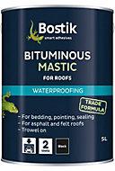 Bostik Waterproofing Black Downpipes, gutters & roofs Bituminous mastic, 5L