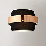 Boston Black Gold effect Easyfit Light shade (D)350mm