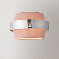 Boston Blush Silver effect Easyfit Light shade (D)350mm