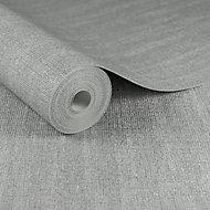 Boutique Chenille Silver effect Textured Wallpaper