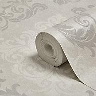 Boutique Elegance Damask Mica effect Textured Wallpaper