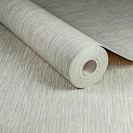 Boutique Grasscloth Silver effect Textured Wallpaper
