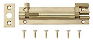 Brass Barrel Door bolt (L)102mm