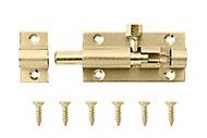 Brass Barrel Door bolt (L)50mm