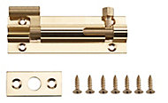 Brass Barrel Door bolt (L)76mm