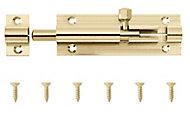 Brass Barrel N233 Door bolt (L)76mm (W)25mm