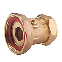 Brass Compression Pump valve 22mm x 12.7mm, (Dia)22mm