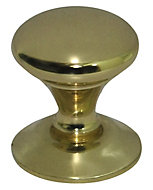 Brass effect Brass Round Furniture Knob (Dia)20.5mm