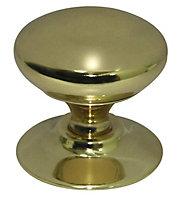 Brass effect Brass Round Furniture Knob (Dia)33mm