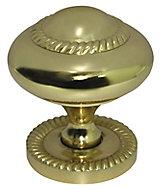 Brass effect Brass Round Furniture Knob (Dia)38mm