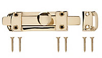 Brass Flat Door bolt (L)96mm