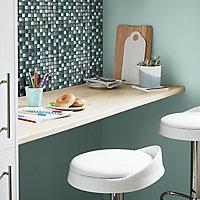 Bressia Blue & green Glass effect Mosaic Glass Mosaic tile, (L)306mm (W)306mm