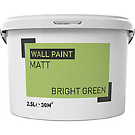 Bright green Matt Emulsion paint, 2.5L