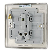 British General 10A 2 way Polished nickel effect Single Light Switch