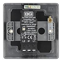 British General 2 way Single Black Dimmer switch