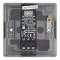 British General 2 way Single Black Nickel effect Dimmer switch