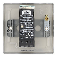 British General 2 way Single Nickel effect Dimmer switch