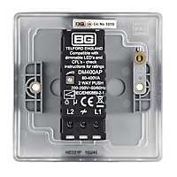 British General 2 way Single Steel effect Dimmer switch