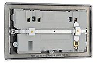 British General Black Nickel effect Double USB socket, 2 x 2.1A USB