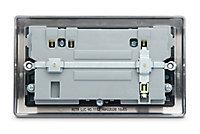 British General Black Nickel effect Double USB socket, 2 x 3.1A USB