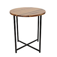 Brooklyn Black Side table (H)45cm (W)40cm