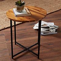 Brooklyn Black Side table (H)45cm (W)40cm