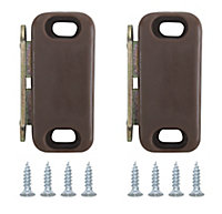 Brown Carbon steel Magnetic Cabinet catch, Pack of 2
